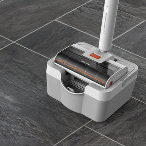 WYPE: Cleans Wet & Dry with Self-Cleaning Station