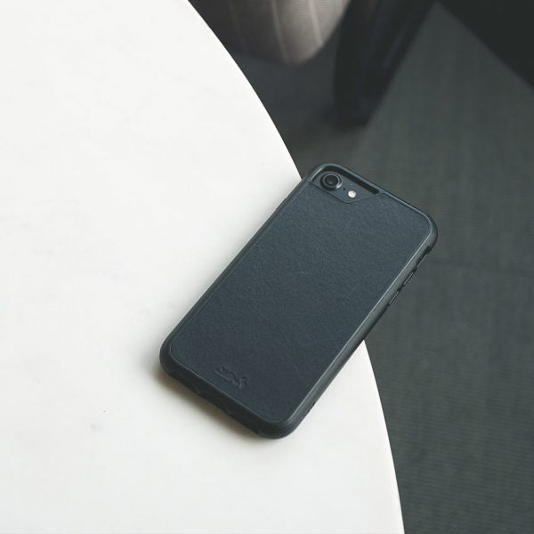 buy popular b20c6 de83d Mous - Real Black Leather Case for iPhone 6 to 8 Plus