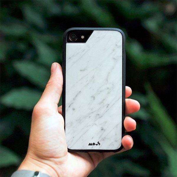 Mous - Real White Marble Case for iPhone 6, 6s, 7 / 6 Plus, 6s Plus, 7 Plus