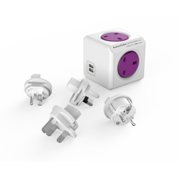 PowerCube ReWirables Travel Plugs - Allocacoc - Storming Gravity