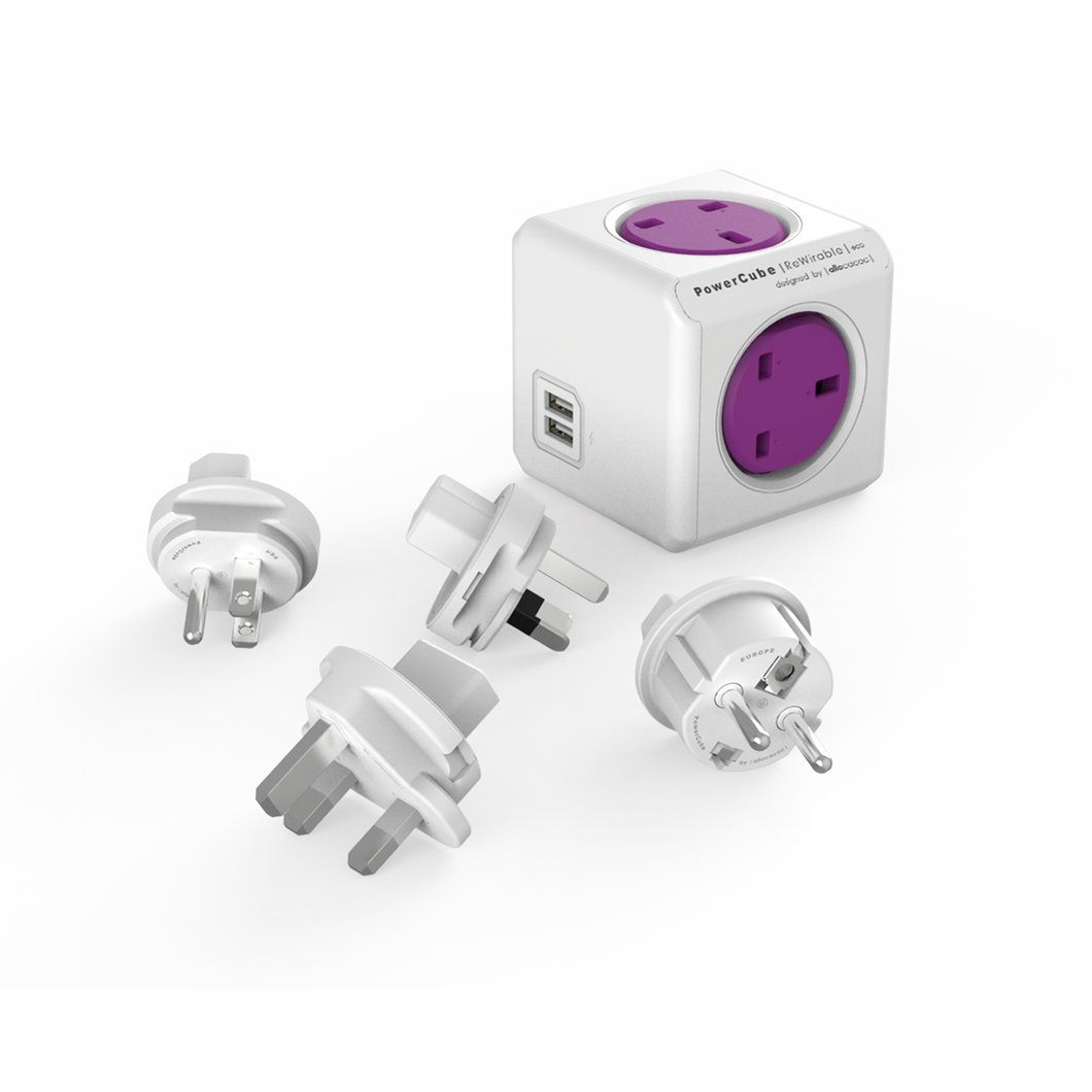 PowerCube ReWirables Travel Plugs - Allocacoc Malaysia - Storming Gravity