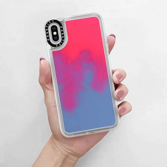 CASETiFY Neon Sand Liquid Case for IPhone Xs Max - CASETiFY in Malaysia - Storming Gravity