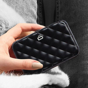 QUILTED BUTTON Card Case Wallet - Ögon Designs Malaysia - Storming Gravity