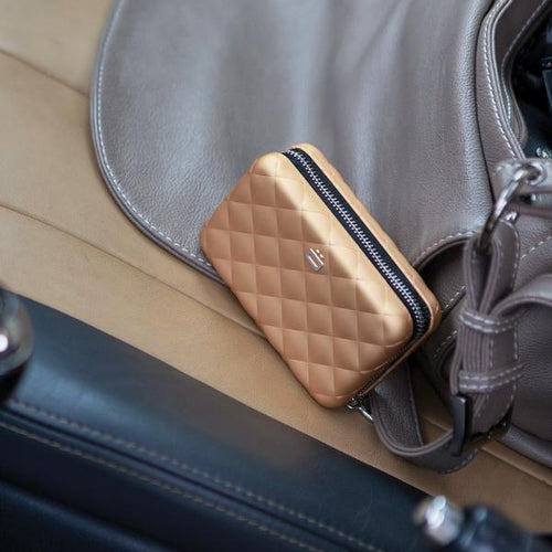 QUILTED ZIPPER Card Case Wallet - Storming Gravity