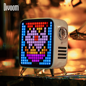 Divoom Tivoo Max - Premium 40W Pixel Art Bluetooth Speaker with App Controlled LED front panel