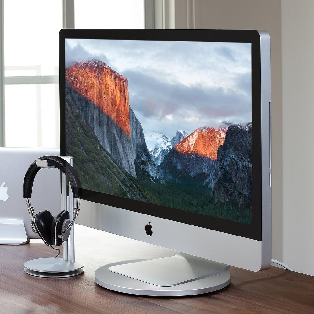 AluDisc - 360-Degree Aluminum Pedestal for iMac and Apple Display - Just Mobile Malaysia - Storming Gravity