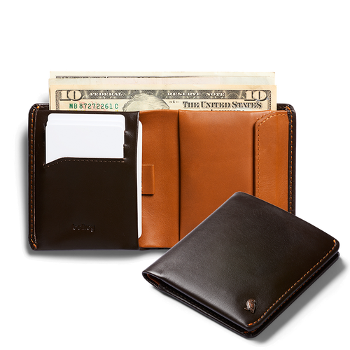 Bellroy Coin Wallet - Leather Bi-fold wallet with coin pouch - Bellroy in Malaysia - Storming Gravity