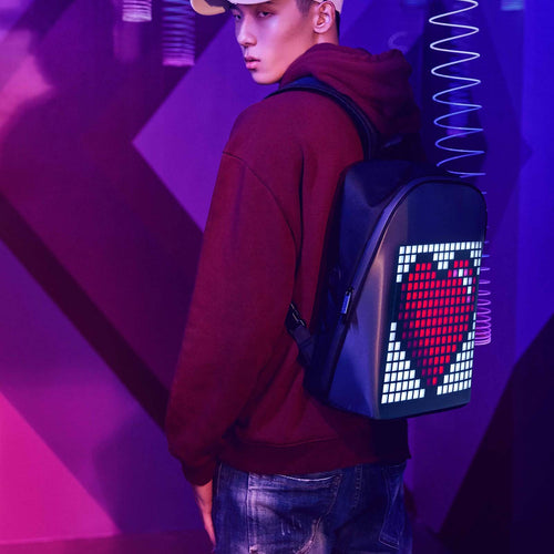 Divoom Pixoo Backpack - 256 customized LED front panel - Divoom in Malaysia - Storming Gravity