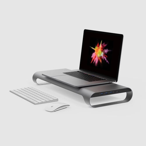 "MONITORMATE ProBASE HD Aluminum USB Type-C Multifunctional Stand for 2016/2017 MacBook Pro 13"" and 15"" (4K HDMI support) - MONITORMATE Malaysia - Storming Gravity"