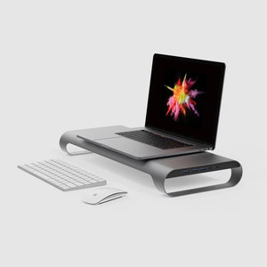 "MONITORMATE ProBASE HD Aluminum USB Type-C Multifunctional Stand for 2016/2017 MacBook Pro 13"" and 15"" (4K HDMI support) - MONITORMATE in Malaysia - Storming Gravity"