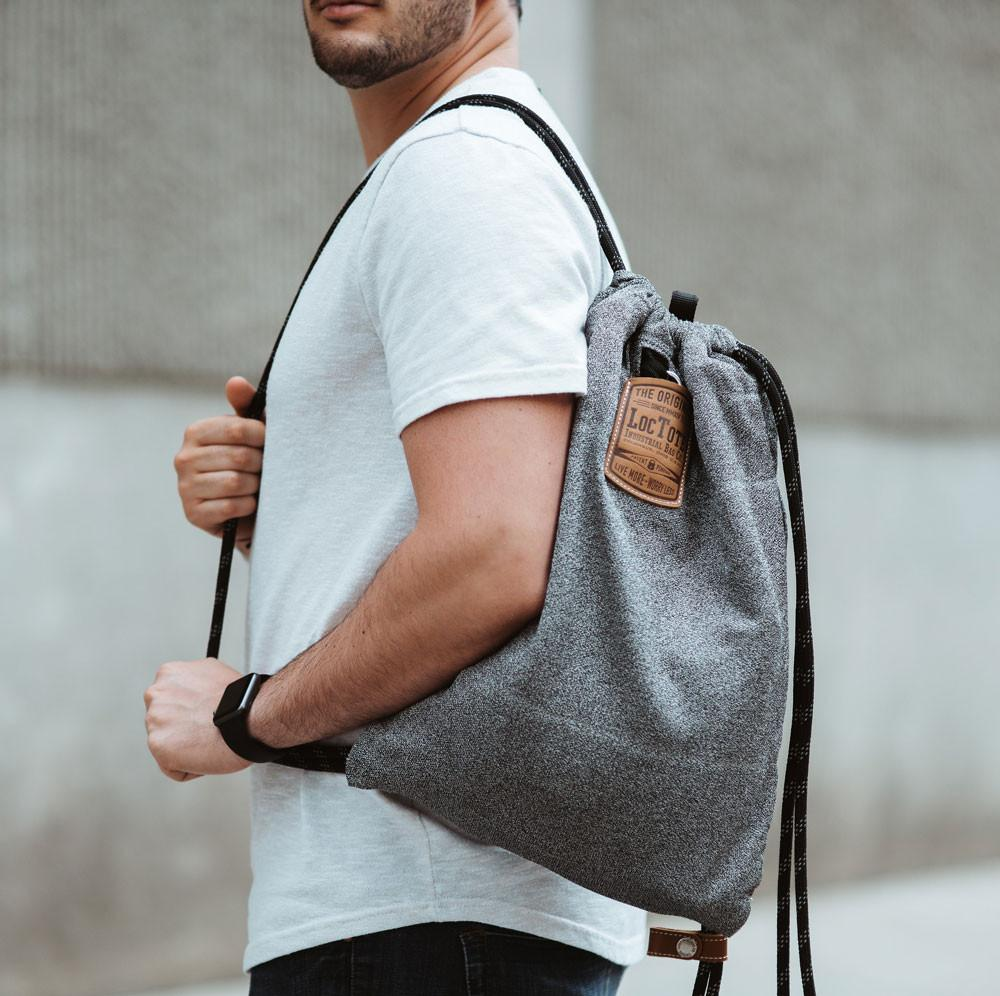 Loctote Flak Sack - The toughest drawstring backpack ever (Double Layer)
