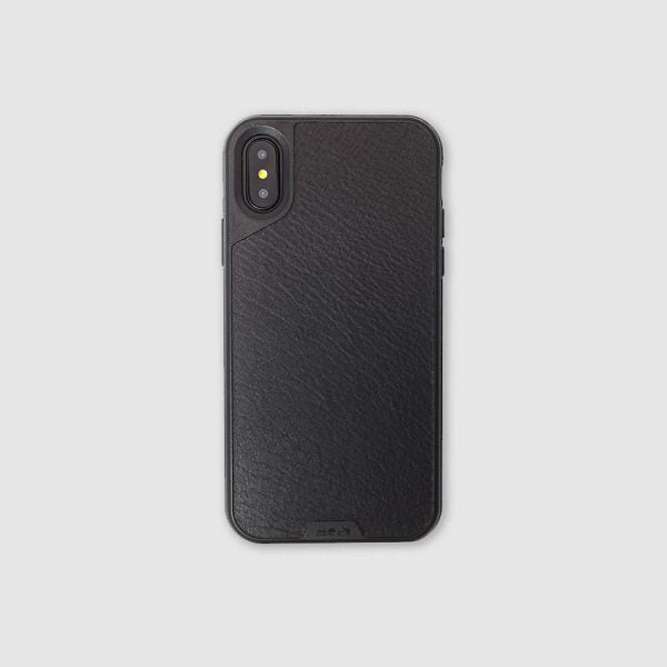sale retailer eab2d cd338 Mous - Real Black Leather Case for iPhone X / Xs / Xs Max / XR