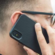 Mous - Real Black Leather Case for iPhone X