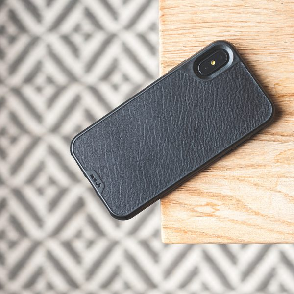 Mous - Real Black Leather Case for iPhone X (Pre-Order)