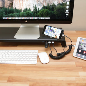 MONITORMATE miniS - Monitor Stand with USB hub, Fast Charger - Storming Gravity