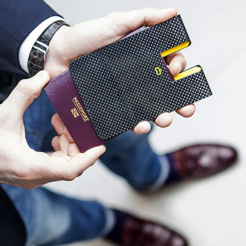 CARBON PASSPORT CLIP Passport Holder - Ögon Designs Malaysia - Storming Gravity