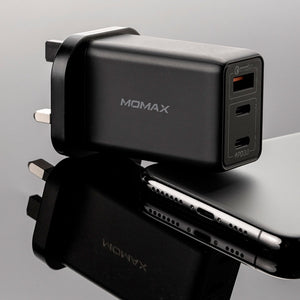 One Plug 65W 3-Port GaN Charger - MOMAX