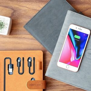 Tesmo Wireless Charger Notebook Book with Built-in Cable - Vinpok in Malaysia - Storming Gravity