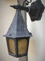 Light Lighting Light Fixture Sconce Exterior Vintage Antique Storybook Vintporium Restored