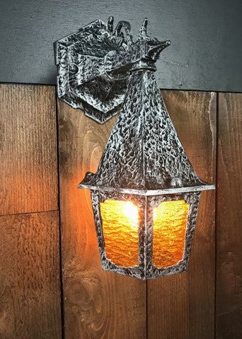 Light Lighting Light Fixture Sconce Exterior Restored Vintporium Home Old Vintage Antique Storybook