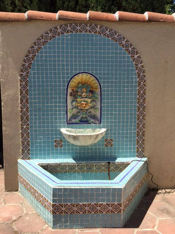 Mid Century Tile Fountain, Vintporium's Virtual California Vintage Tile Gallery, South 16th St.