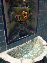 Mid Century Tile Fountain, Vintporium's Virtual California Vintage Tile Gallery, South 16th San Jose California