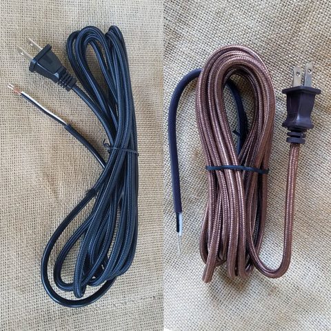 Antique Style Rayon Cloth Covered Cord SVT/2 18 Gauge Cord Set Lamp Part Light Lighting Light Repair Vintporium