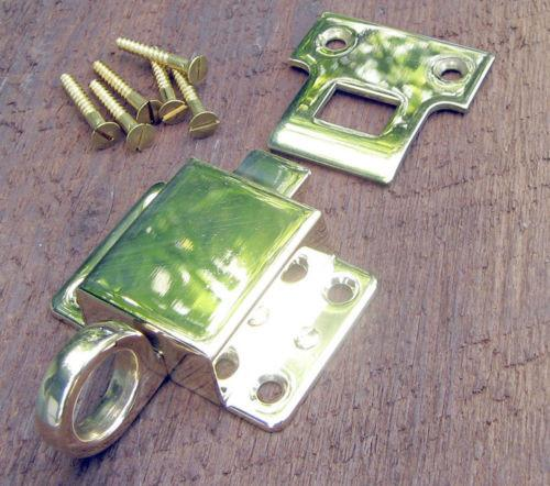 Solid Brass Transom Window Latch Polished Brass and Lacquer Free  - Vintporium Architectural Salvage - Window, Transom, Old Windows, Old House, Lock, Latch, Window Hardware, Antique Hardware, Vintage Hardware, Wood Windows