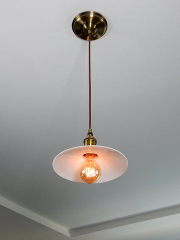 Pendant Light Lighting Fixture Ceiling Antique Vintage Cafe Vintporium Rejuvenation Restoration Hardware Interior Decor Homm Improvement Cloth Cord Brass