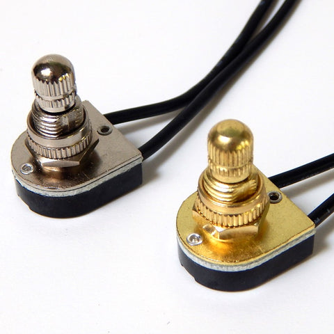 Brass Nickel Rotary Switch Light Lighting Parts Home Improvement Restore Repair Vintporium Wiring Electrical Lamp