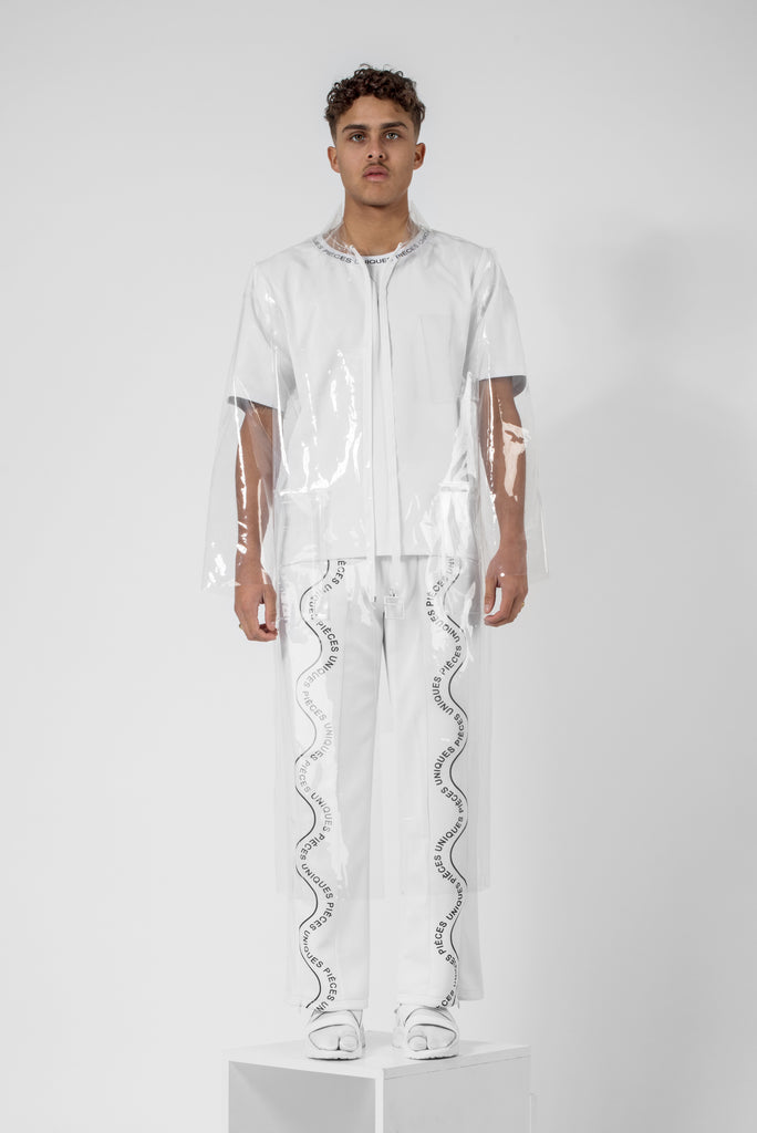 "Absolu® transparent ""La Clé"" printed raincoat"