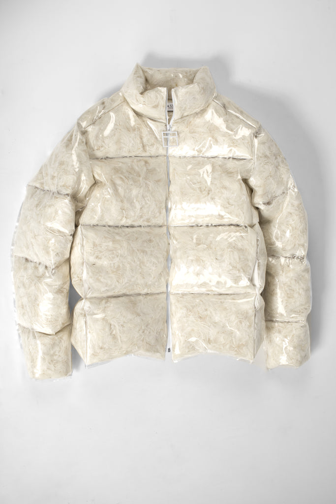 Absolu® transparent printed puffy jacket