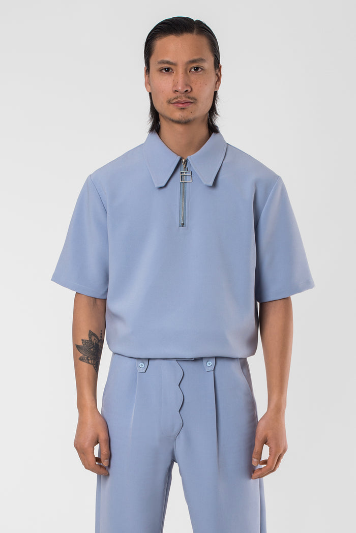 "Blue Sad ""La Clé"" Polo Shirt"