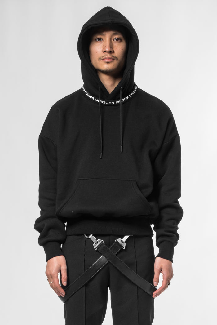 Black Moon® printed collar hoodie