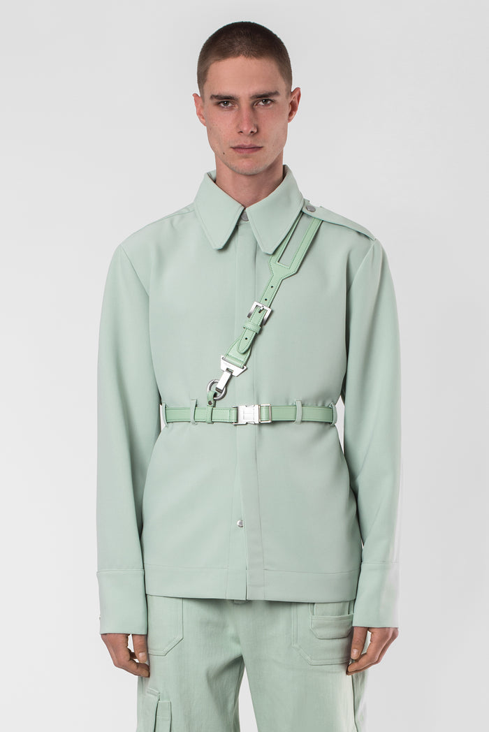 "Green Trust ""Bident"" cross belt Shirt"