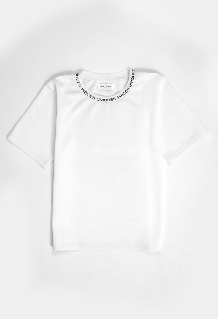 Virgin white® printed collar t-shirt