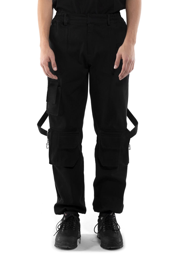 "Black Moon ""la Clé"" Multi-pockets cargo pants"