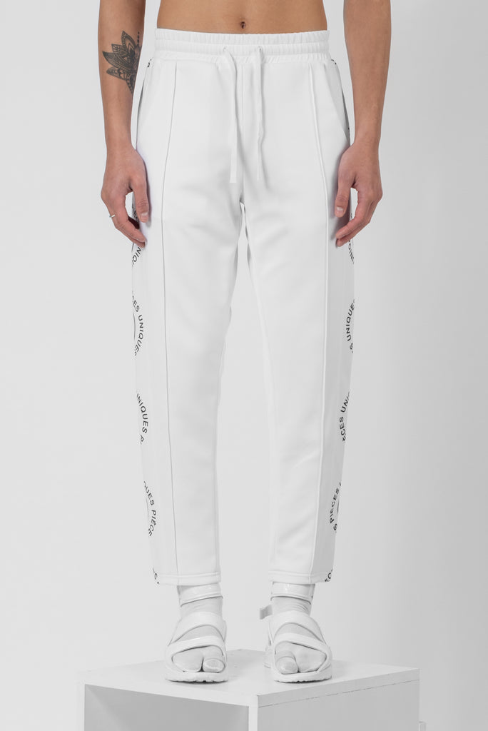 Virgin white® jogger pants wave printed tape