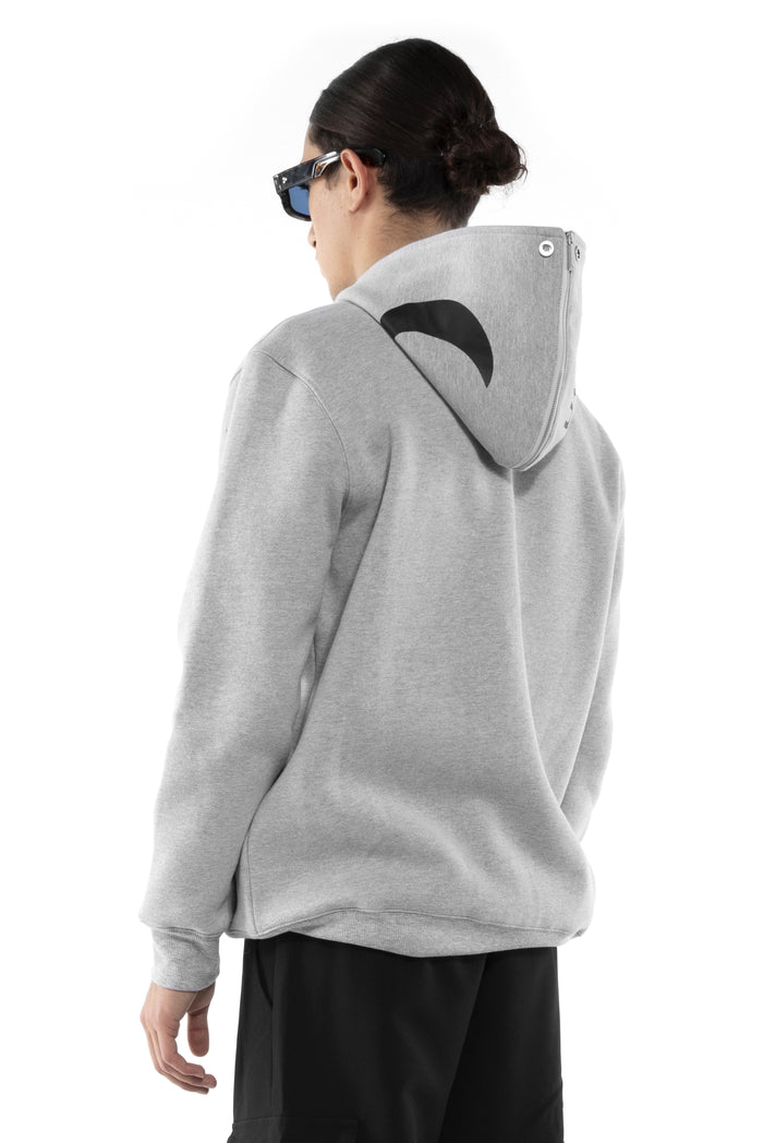 Grey Eclipse two sides Hoodie