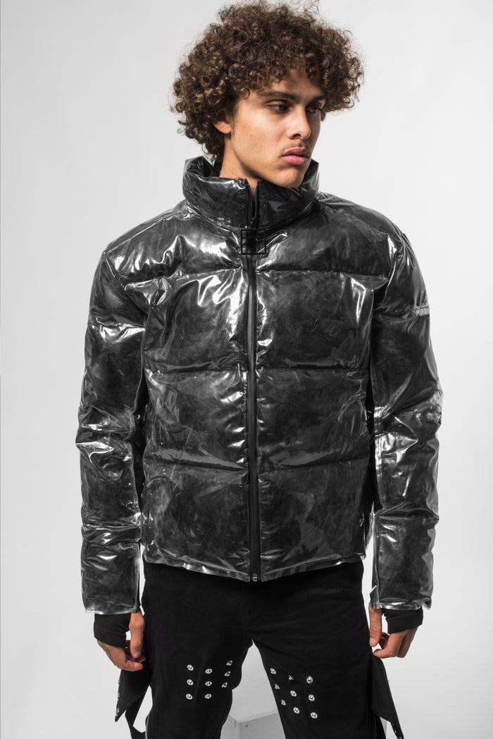 Black Moon® transparent puffy jacket