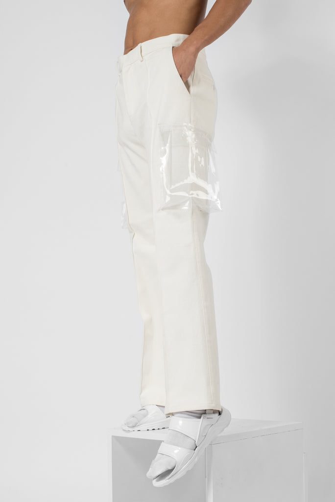 Sin white® whipcord flared trousers