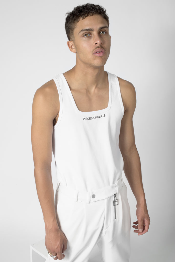 Day White® Graphic collar tank top