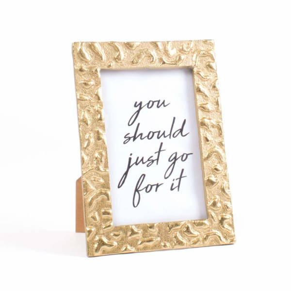 4 x 6 Picture Frame - Gold Leopard