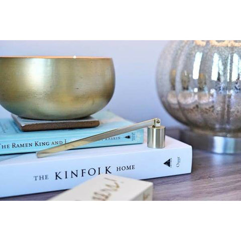 Brushed Gold Candle Snuffer