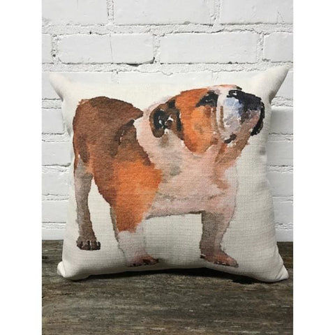 Bulldog Pillow - game day