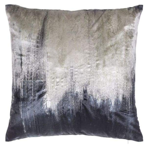 Charcoal and Metallic Gold Velvet Pillow