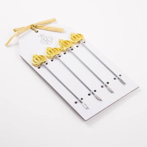 Crown Appetizer Forks