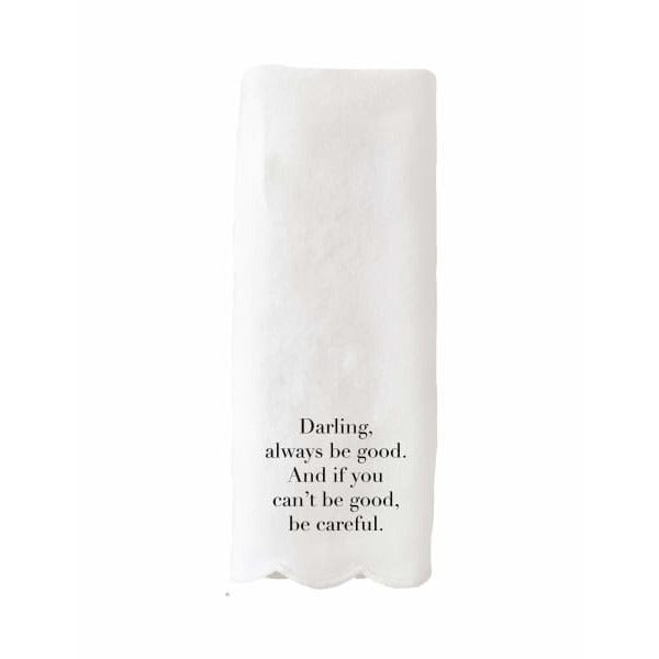 Darling Scalloped Guest Towel