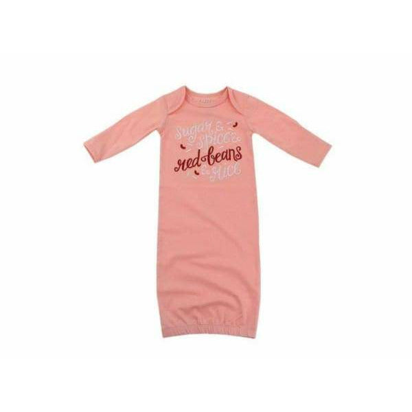 Embroidered Sugar and Spice Baby Gown (0-3 mos)