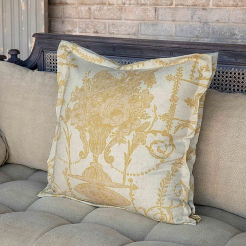 French Quarter Yellow Pillow